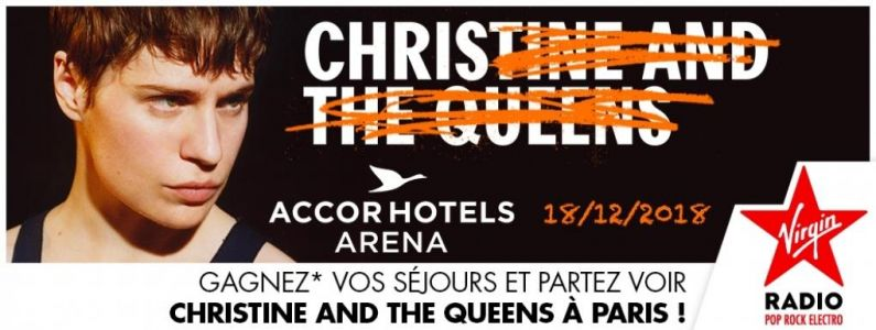 Ecoutez Virgin Radio et partez voir Christine & The Queens le 18 décembre à l'AccorHotels Arena à Paris !